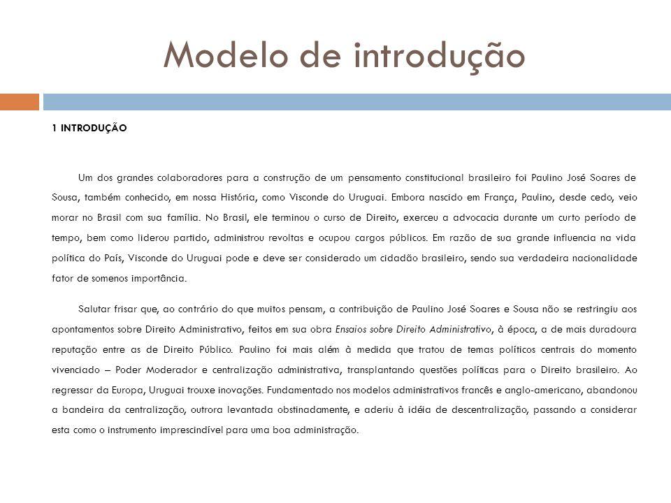 Modelo de introdução