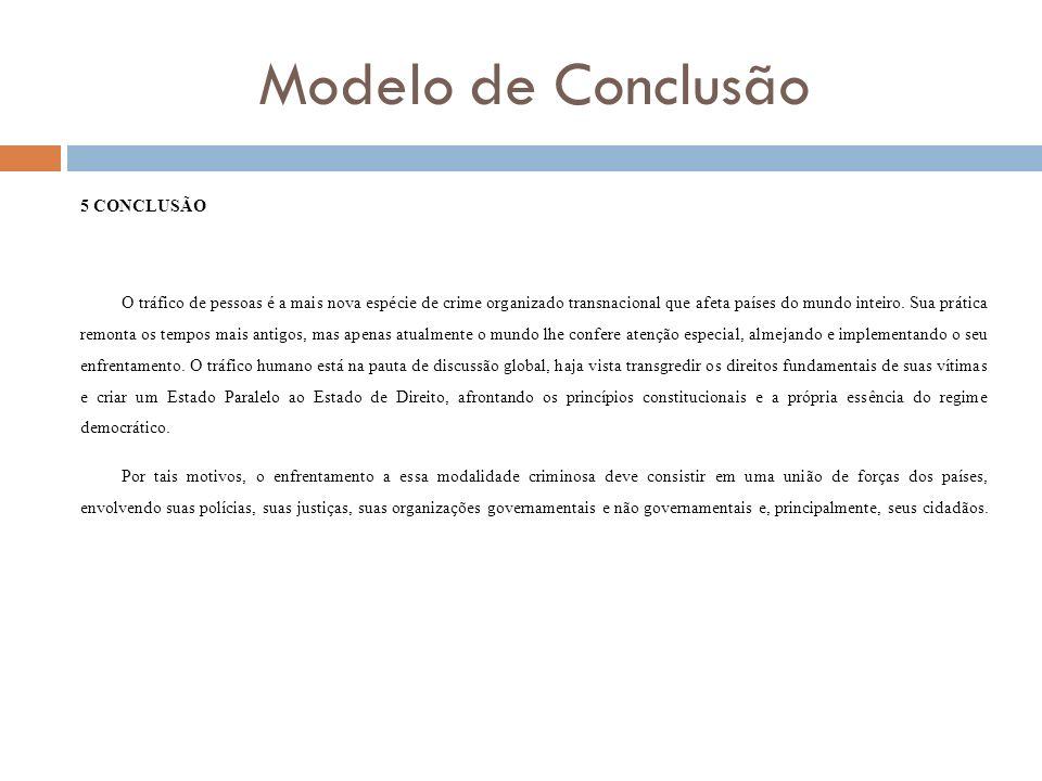 Modelo de Conclusão