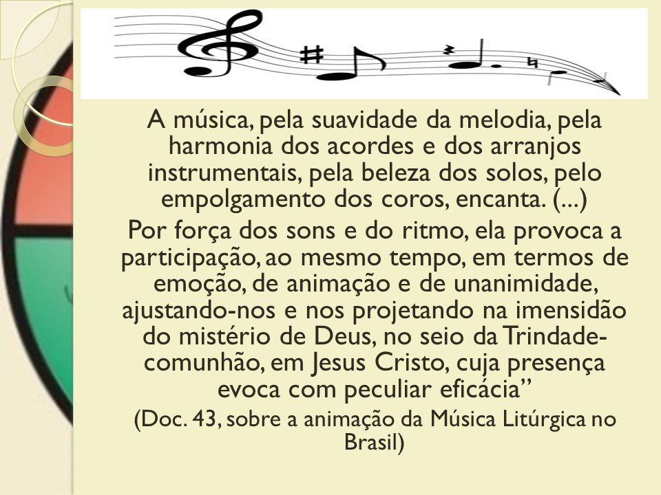 (Doc. 43, sobre a animação da Música Litúrgica no Brasil)