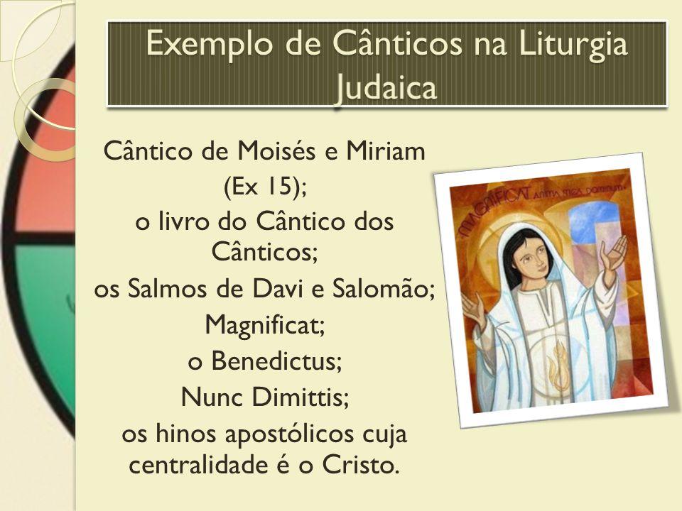 Exemplo de Cânticos na Liturgia Judaica