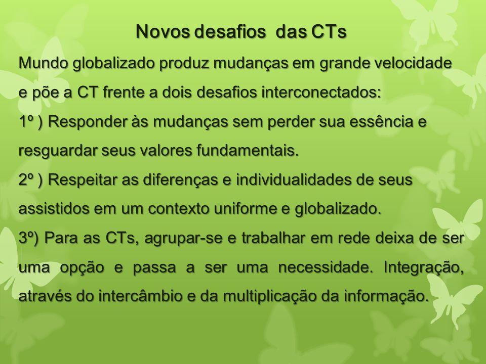 Novos desafios das CTs Mundo globalizado produz mudanças em grande velocidade e põe a CT frente a dois desafios interconectados: