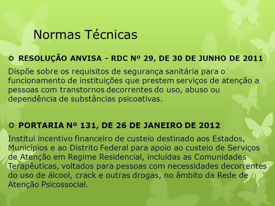 Normas Técnicas RESOLUÇÃO ANVISA - RDC Nº 29, DE 30 DE JUNHO DE 2011.