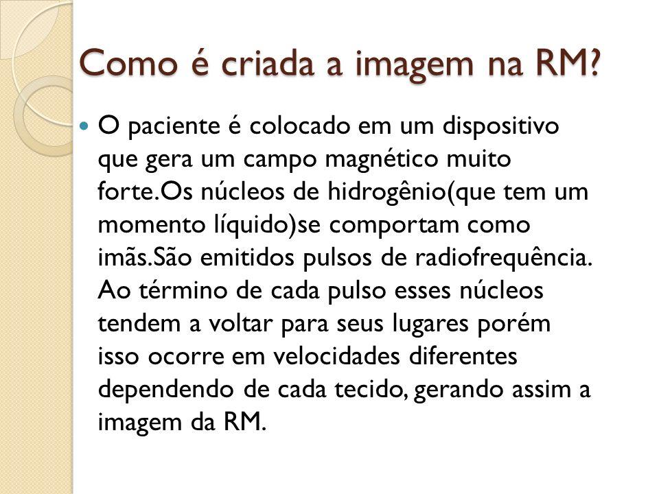 Como é criada a imagem na RM