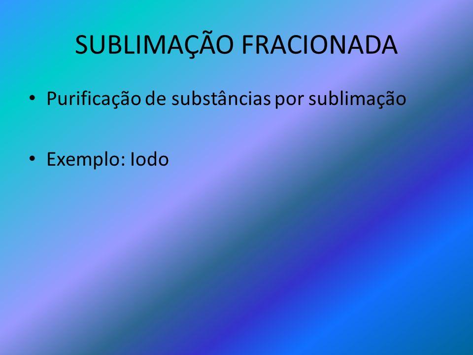 SUBLIMAÇÃO FRACIONADA