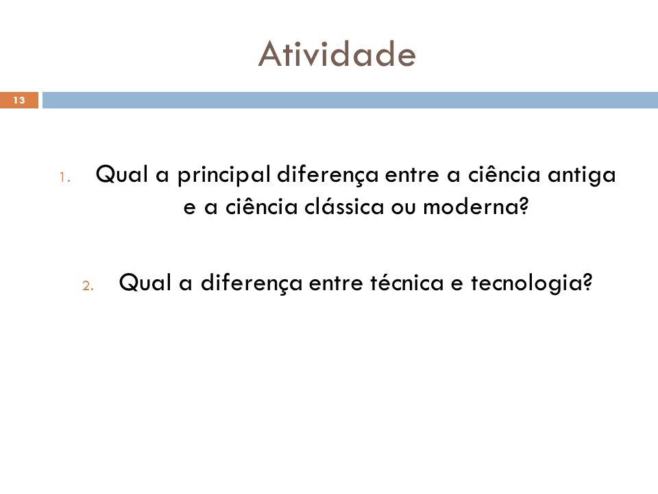 Qual a diferença entre técnica e tecnologia