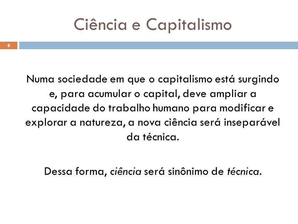 Ciência e Capitalismo