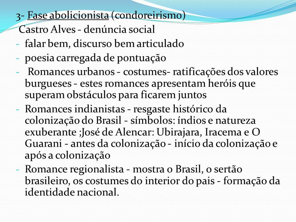 3- Fase abolicionista (condoreirismo)