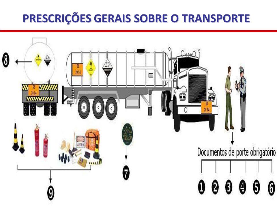 PRESCRIÇÕES GERAIS SOBRE O TRANSPORTE