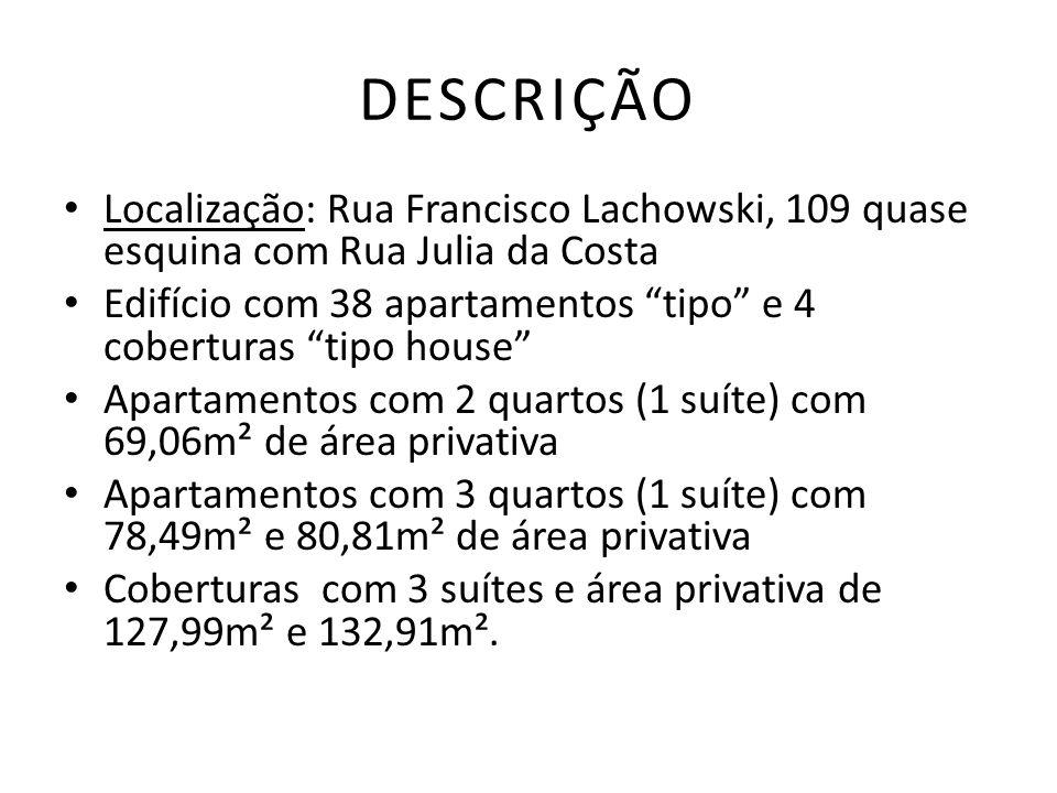 DESCRIÇÃO Localização: Rua Francisco Lachowski, 109 quase esquina com Rua Julia da Costa.