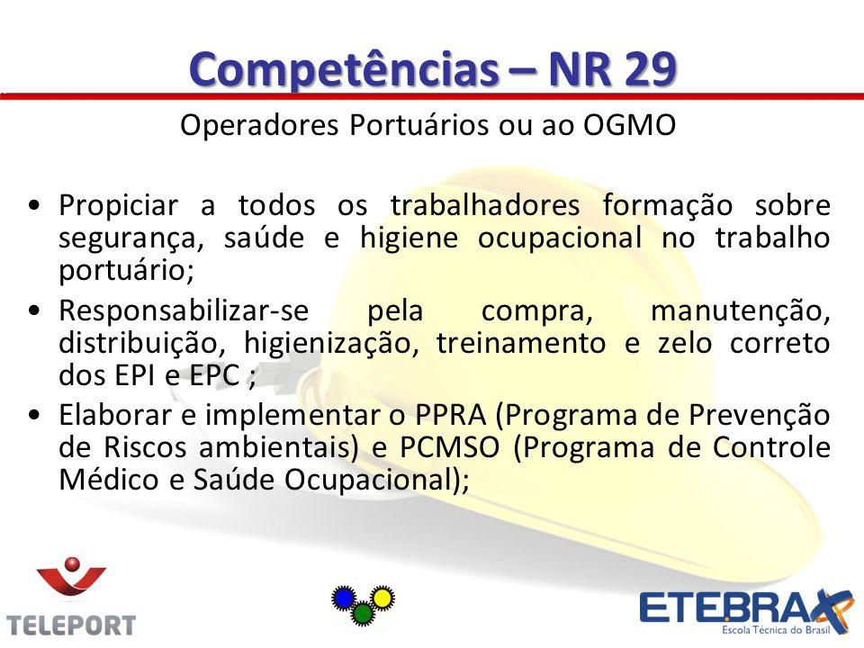 Operadores Portuários ou ao OGMO