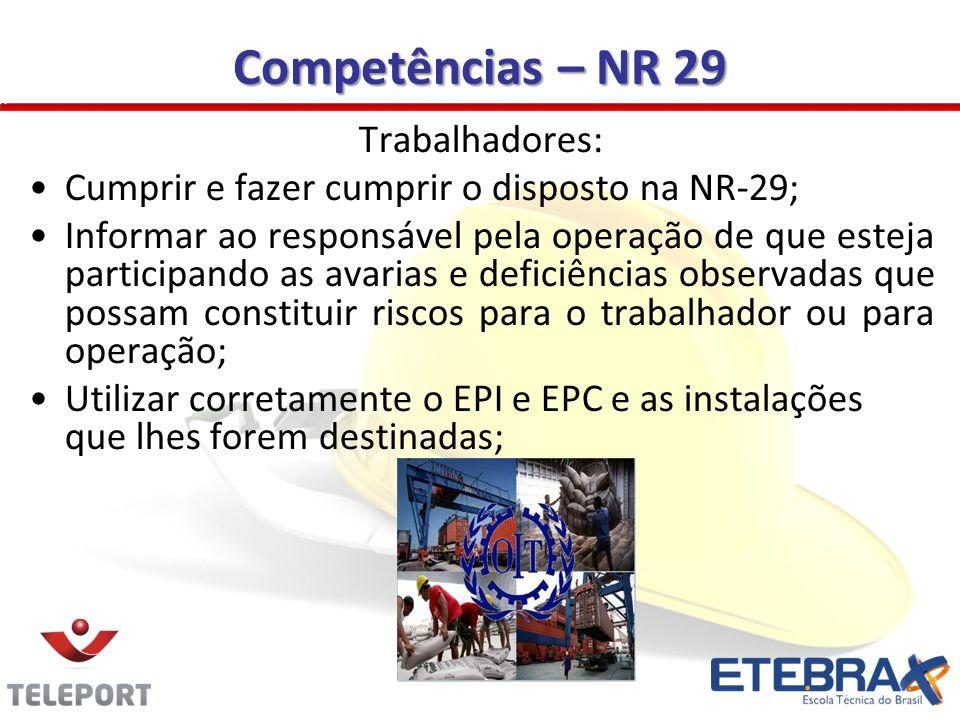 Competências – NR 29 Trabalhadores: