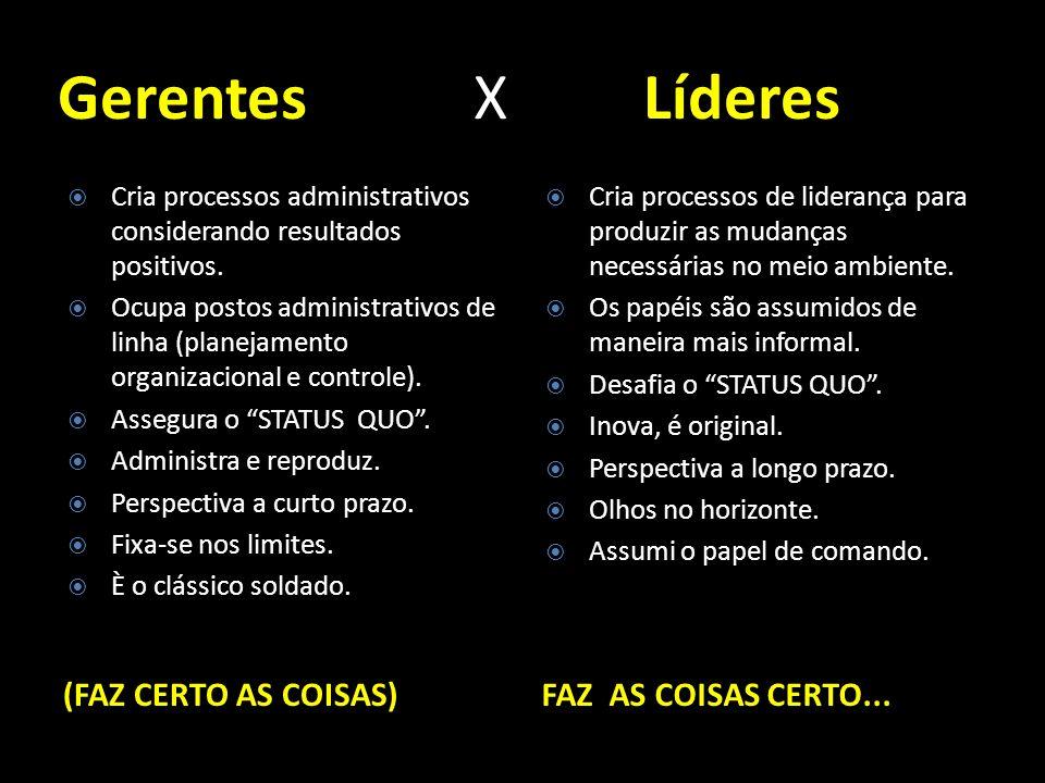 Gerentes X Líderes (FAZ CERTO AS COISAS) FAZ AS COISAS CERTO...