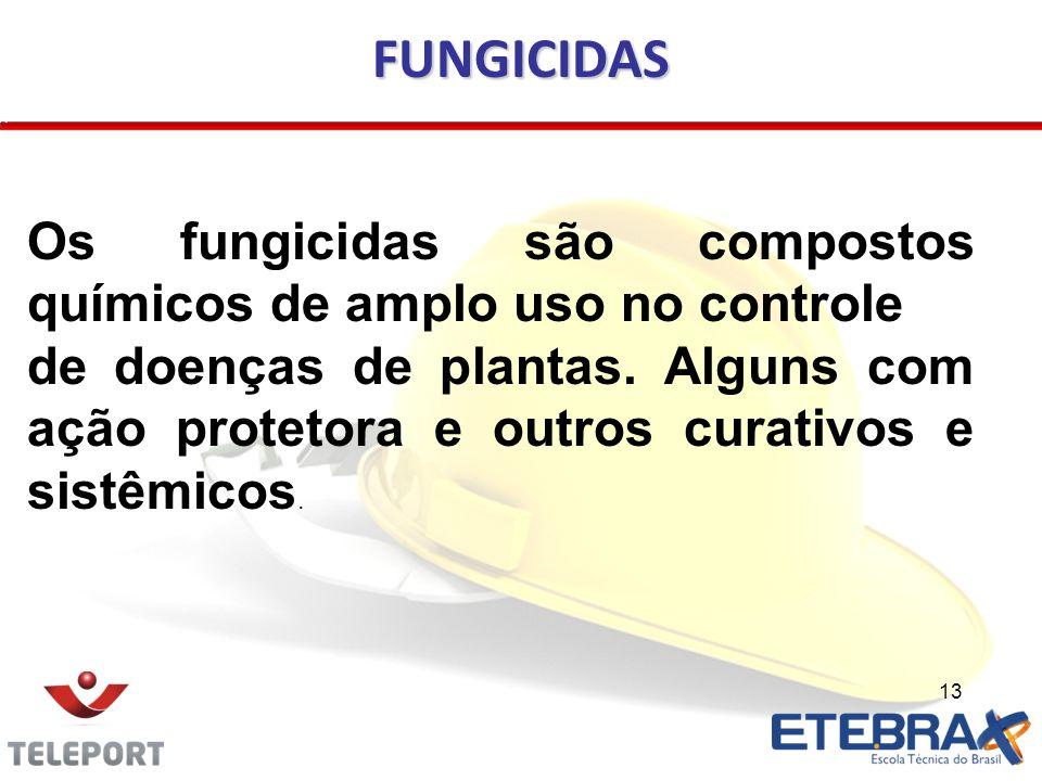 FUNGICIDAS Os fungicidas são compostos químicos de amplo uso no controle.