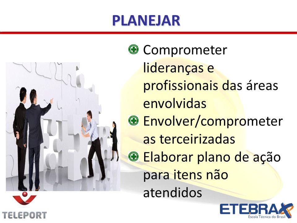 PLANEJAR Comprometer lideranças e profissionais das áreas envolvidas