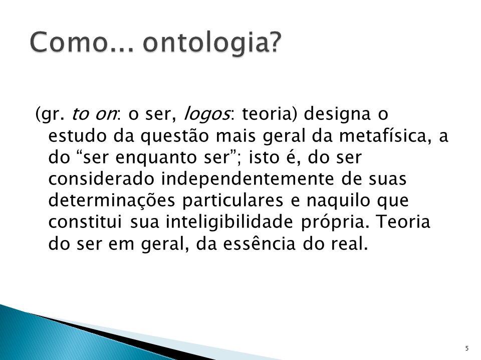Como... ontologia