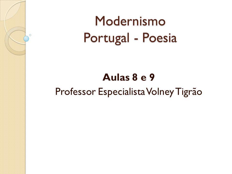 Modernismo Portugal - Poesia
