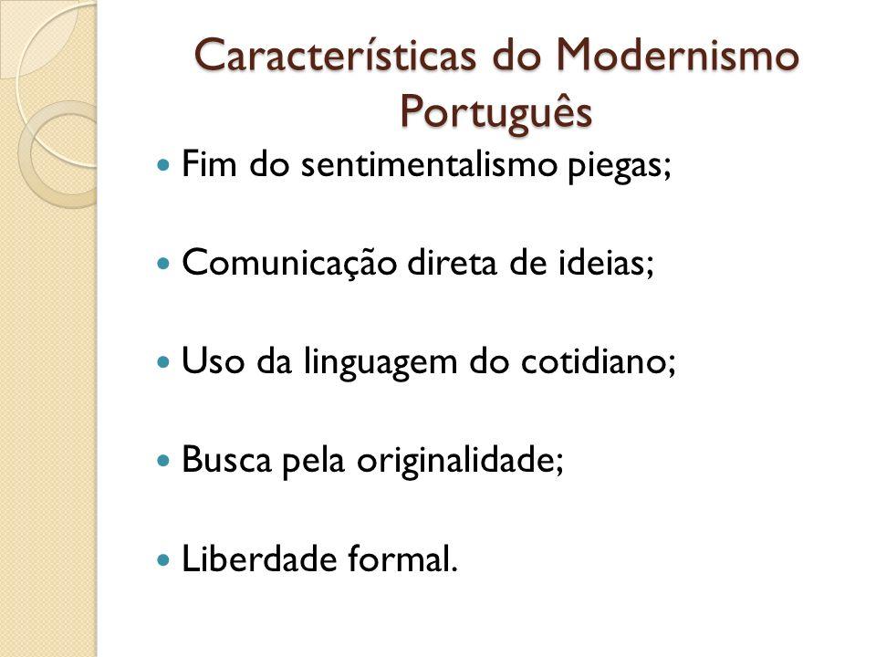 Características do Modernismo Português