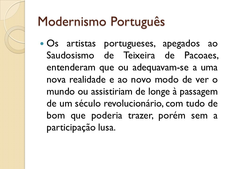 Modernismo Português