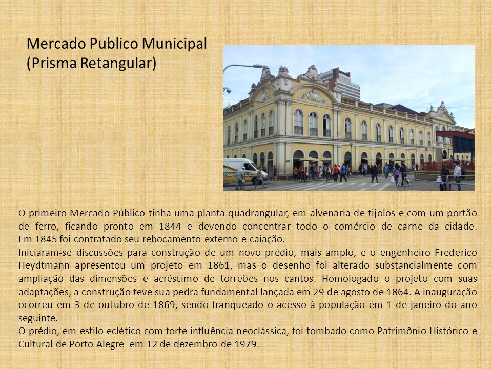 Mercado Publico Municipal (Prisma Retangular)