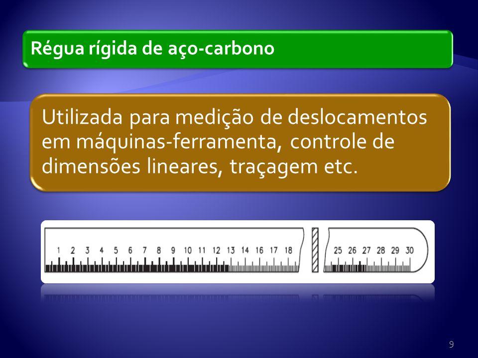 Régua rígida de aço-carbono