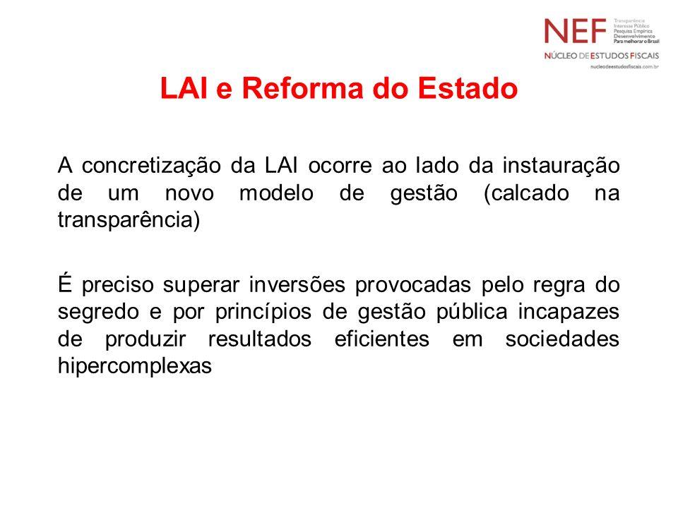 LAI e Reforma do Estado