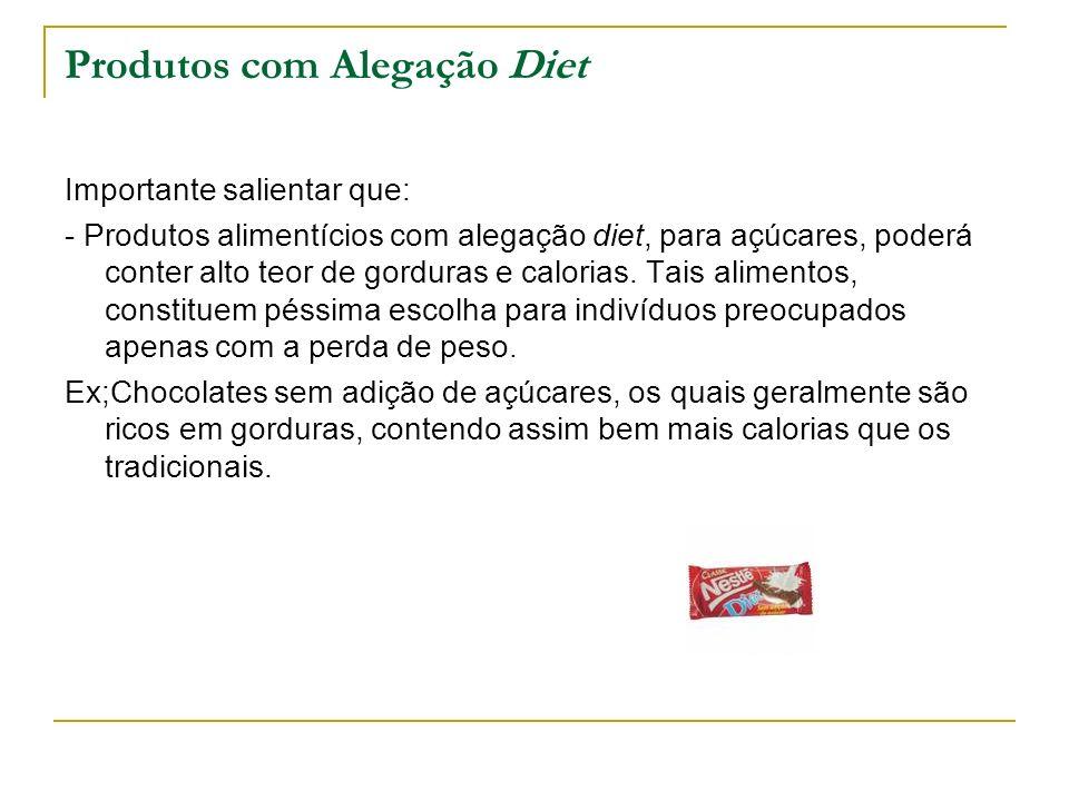 Produtos com Alegação Diet