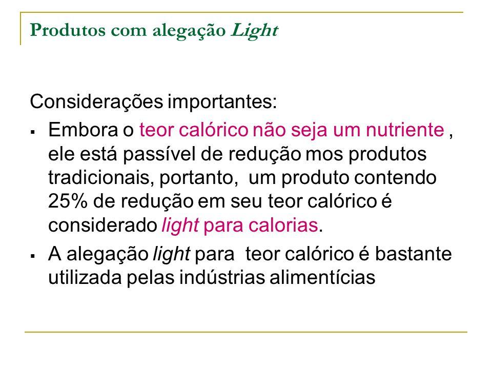 Produtos com alegação Light