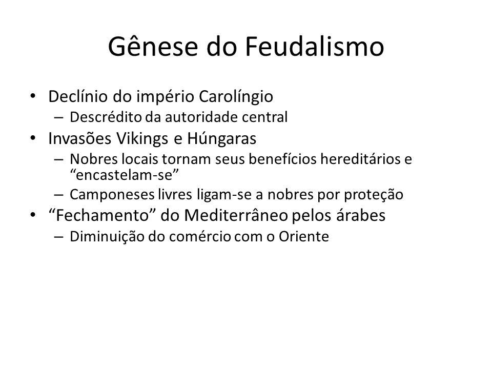 Gênese do Feudalismo Declínio do império Carolíngio