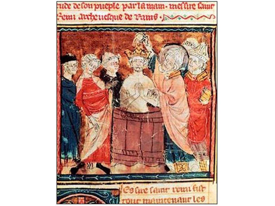 Batismo de Clóvis – Iluminura do século VI