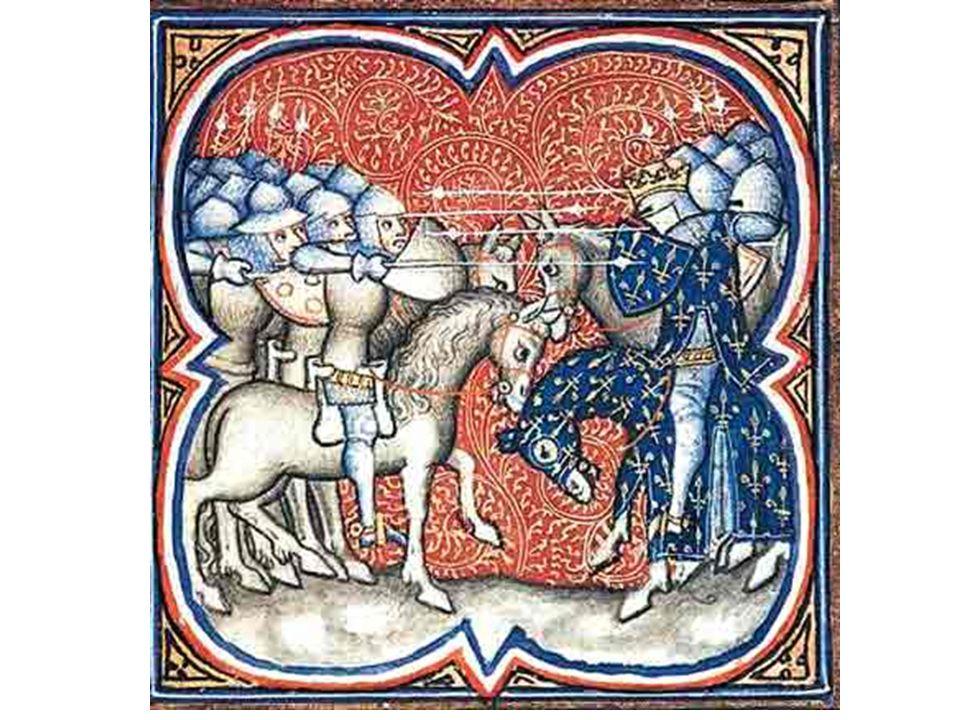 A Batalha de Poitiers (732) – Iluminura do século IX