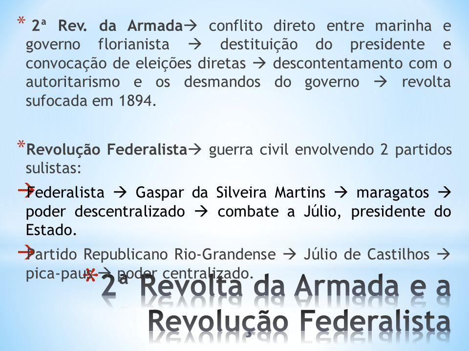 2ª Revolta da Armada e a Revolução Federalista