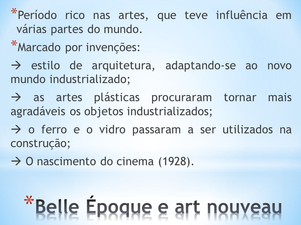 Belle Époque e art nouveau