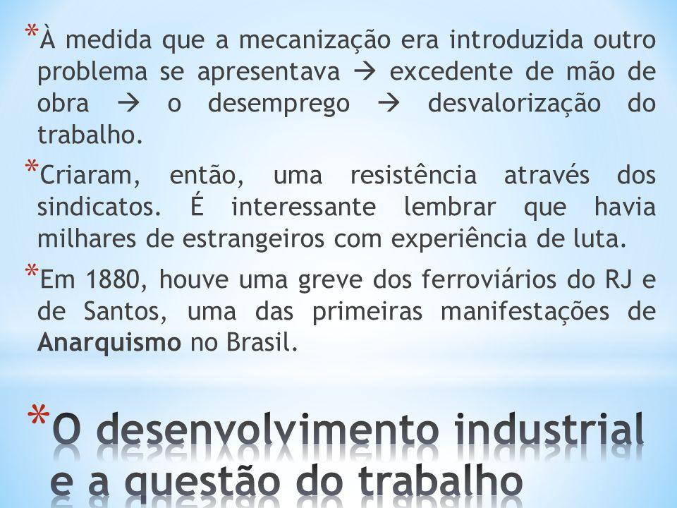 O desenvolvimento industrial e a questão do trabalho