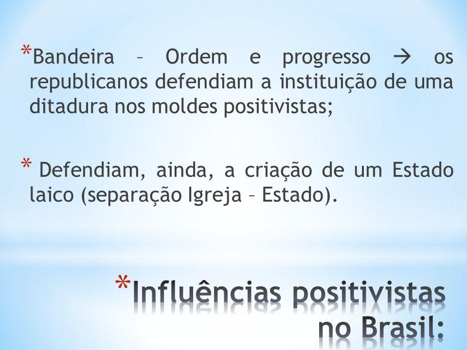 Influências positivistas no Brasil: