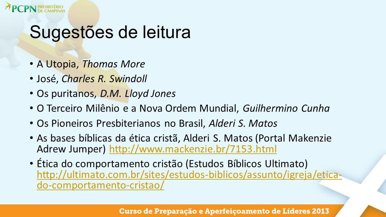 Sugestões de leitura A Utopia, Thomas More José, Charles R. Swindoll