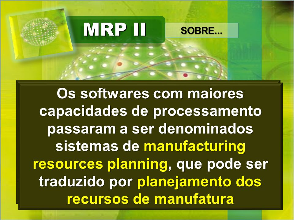 MRP II SOBRE...