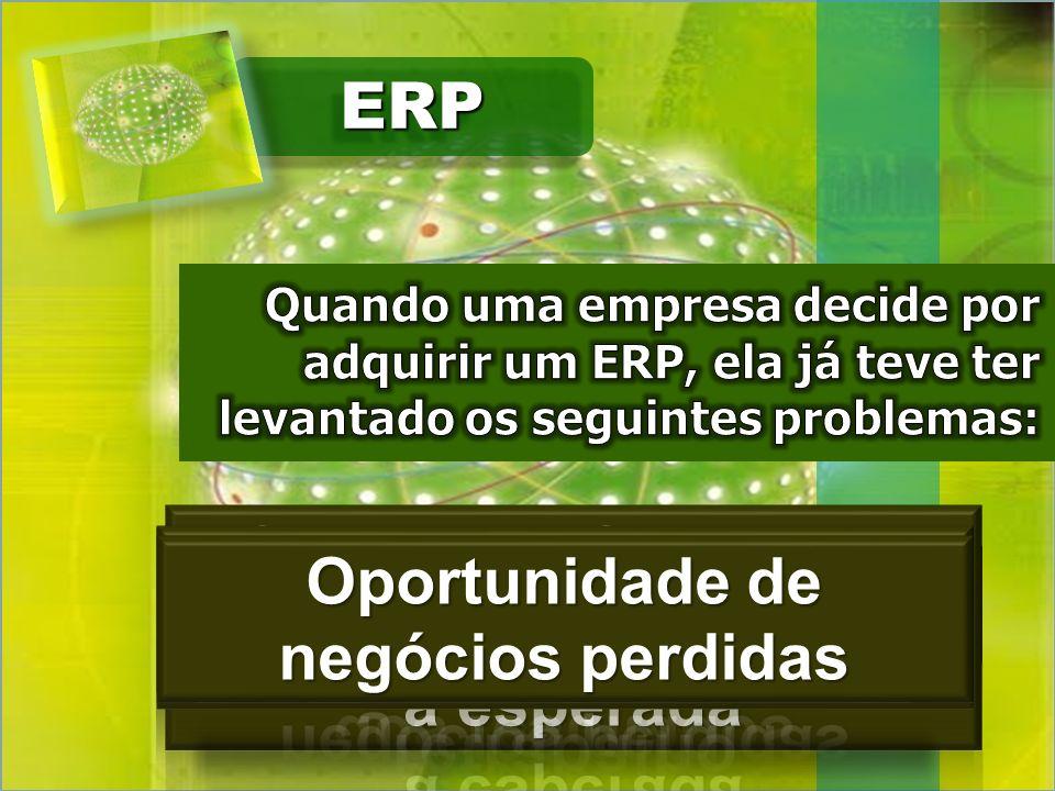 Processos lentos Alto índice de retrabalho ERP