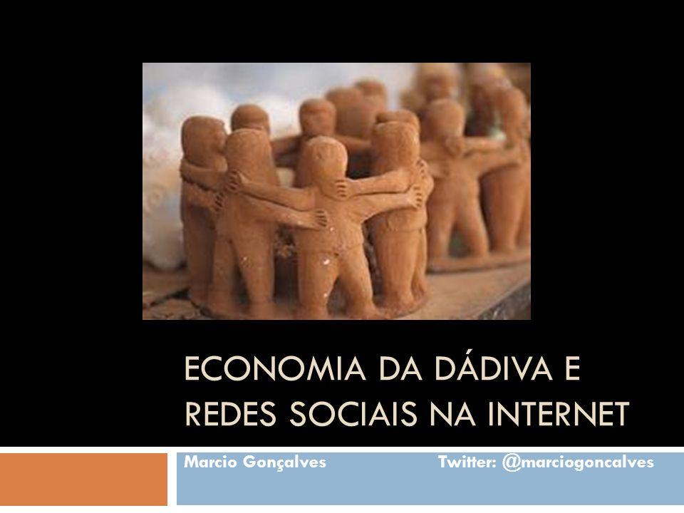 Economia da dádiva e redes sociais na internet