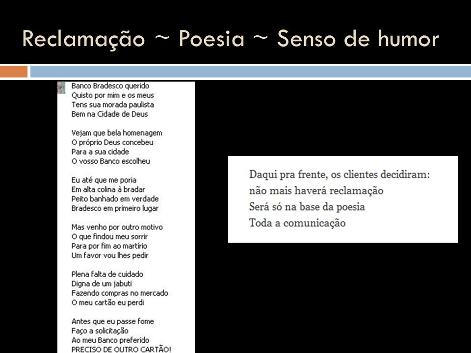 Reclamação ~ Poesia ~ Senso de humor