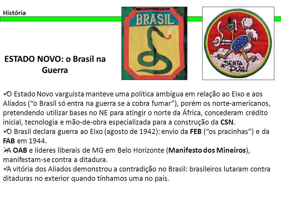ESTADO NOVO: o Brasil na Guerra