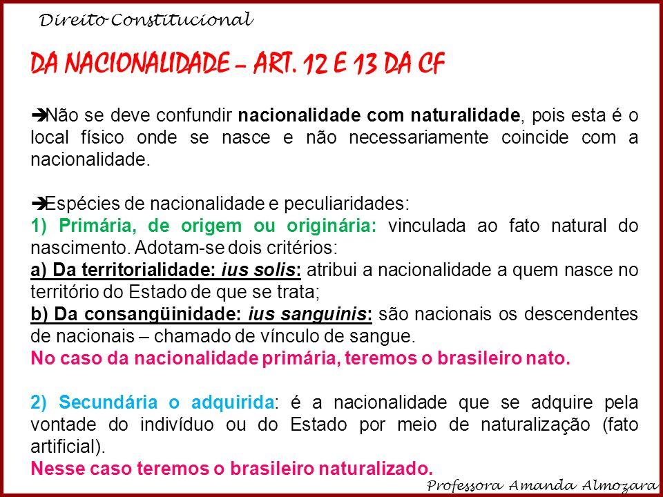 DA NACIONALIDADE – ART. 12 E 13 DA CF - ppt video online carregar 2dbb01e8b0c78