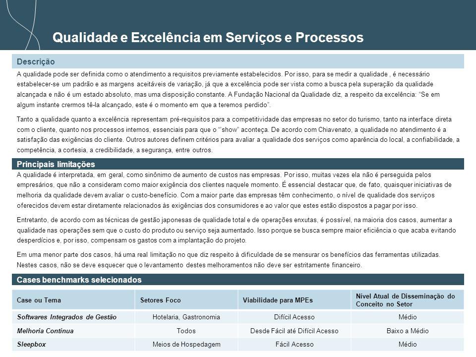 Qualidade e Excelência em Serviços e Processos
