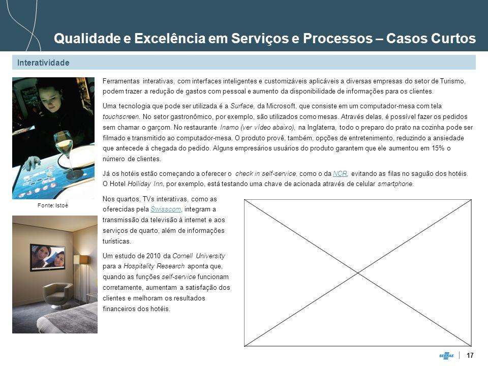 Qualidade e Excelência em Serviços e Processos – Casos Curtos