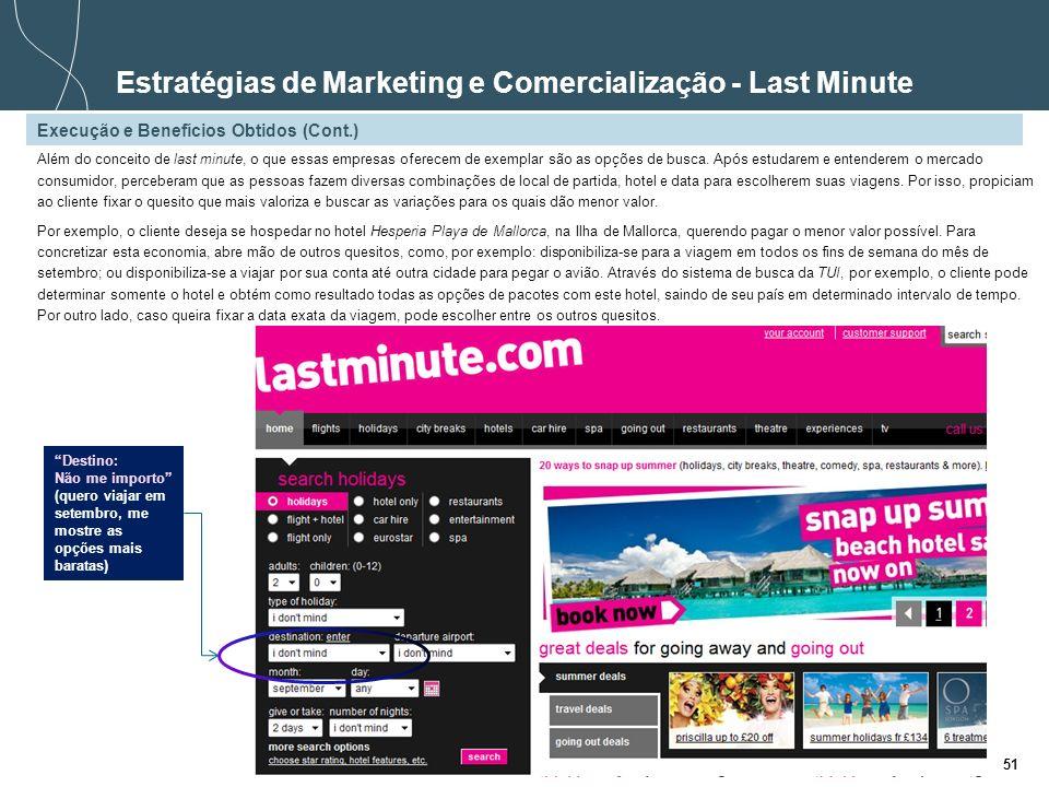 Estratégias de Marketing e Comercialização - Last Minute