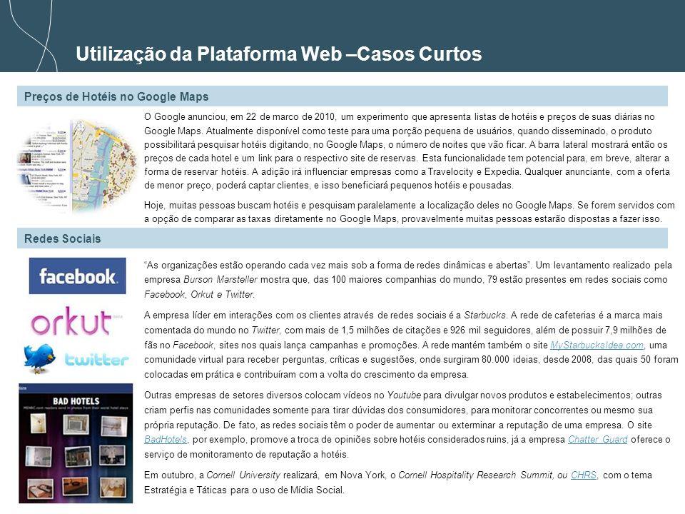 Utilização da Plataforma Web –Casos Curtos