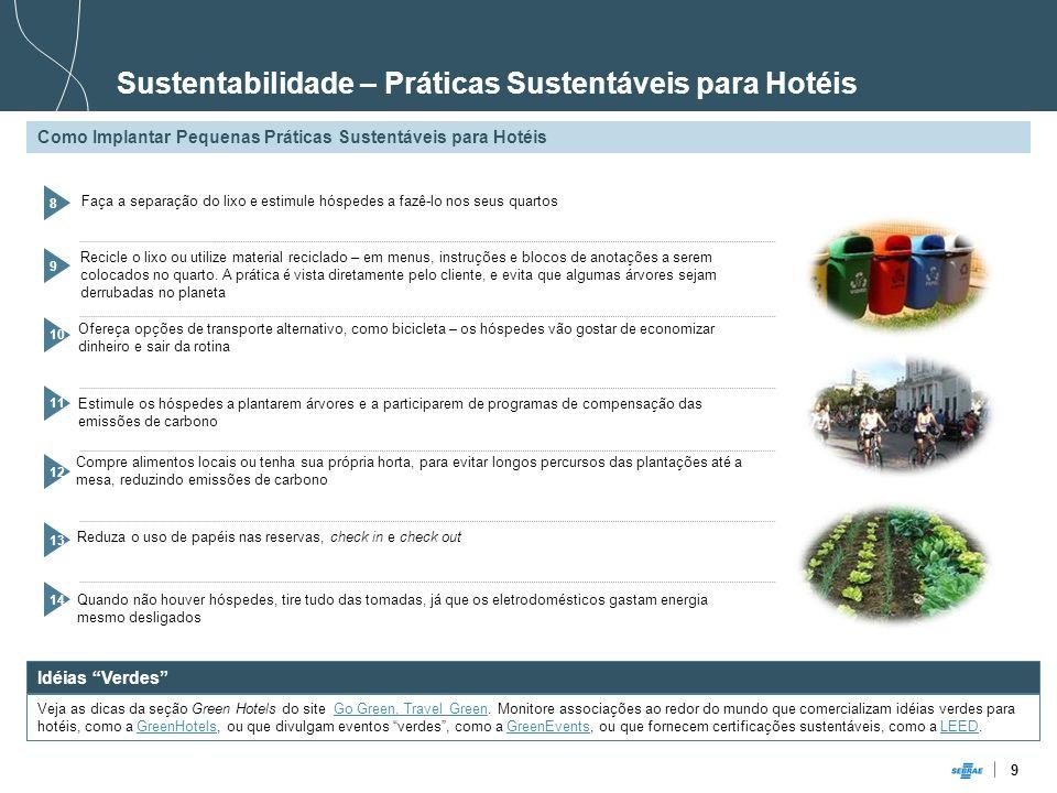 Sustentabilidade – Práticas Sustentáveis para Hotéis