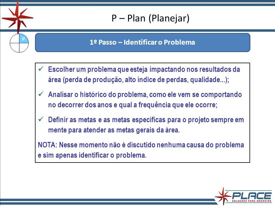 1º Passo – Identificar o Problema