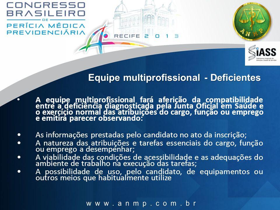 Equipe multiprofissional - Deficientes