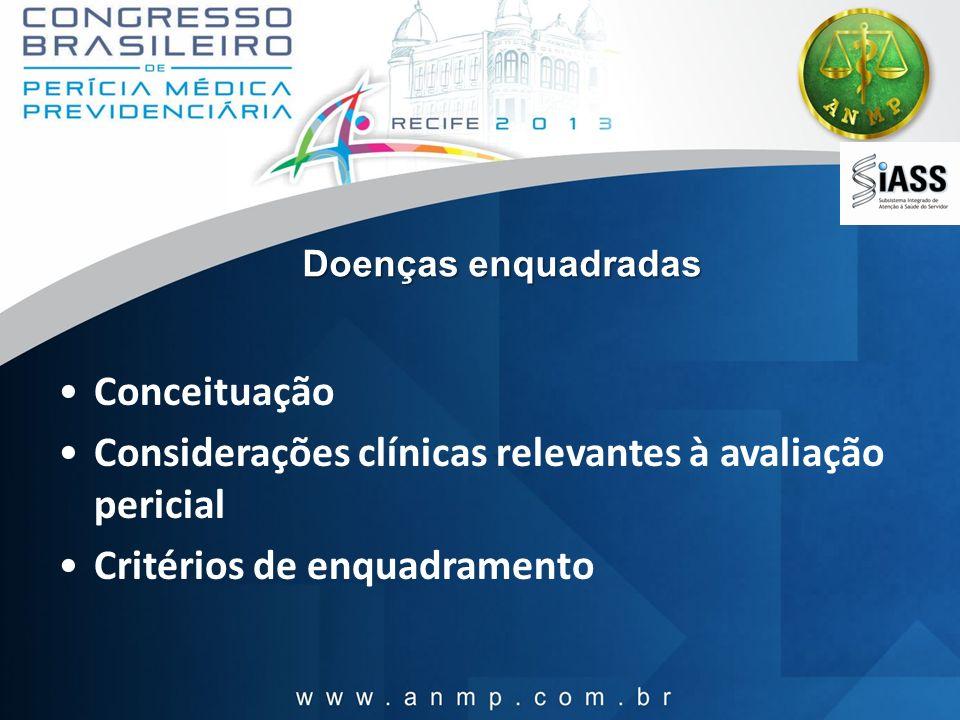 Considerações clínicas relevantes à avaliação pericial