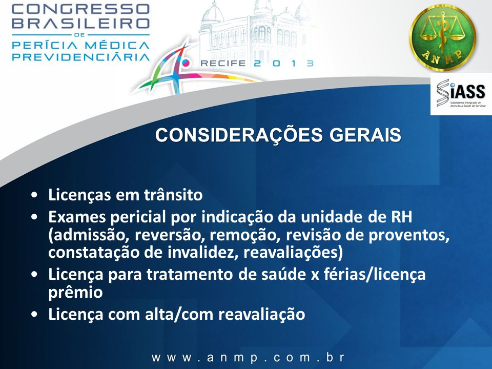 CONSIDERAÇÕES GERAIS Licenças em trânsito